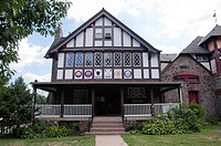 Antique building, Boathouse Row, Philadelphia, Pennsylvania, USA