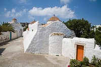europe, greece, dodecanese, patmos island, chora, church