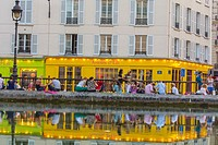 Paris, France, Young People Relaxing in the Canal Saint Martin Area