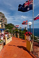 The hotel Webber Ambassador at Marina Piccola on the Island of Capri, Campania, Italy