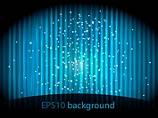vector background with blue stripes and small stars