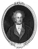 Historic steel engraving from the 19th century, portrait of Johann Wolfgang von Goethe, 1749 - 1832, a German poet