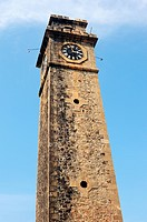 Bottom view of a Historic clock tower in Sri Lanka