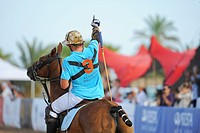 A polo player has scored a goal, Ibiza, Spain, Europe