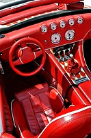 Wiesmann sports car, interior design, dashboard, Munich, Bavaria, Germany, Europe