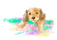 Illustration Of Cute Puppy Dog