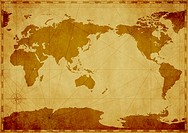 World Map, Cropped