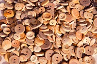 wooden buttons in the fair
