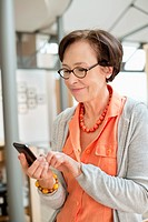 Woman using a mobile phone