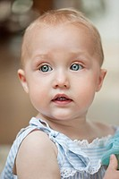 Close_up of a baby girl
