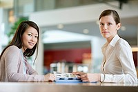 Businesswomen working in an office