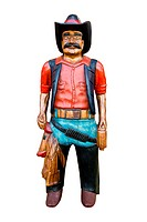 Wooden cowboy