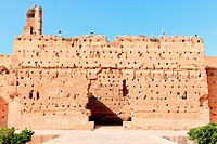 Ancient wall at El_Badi Palace