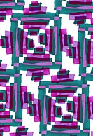 Purple and teal geometric pattern