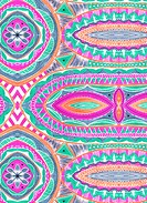 Colorful tribal design