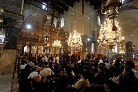 Church of the Nativity, interior view, Bethlehem, West Bank, Israel, Middle East