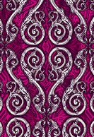 Romantic heart design on fuschia background