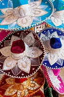 Traditional hats at market