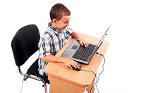 Modern kid at the laptop