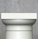 3d render classic Roman column on gray grunge background