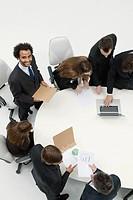 Businessman preparing presentation for business meeting