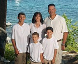 Portait of a family of five, lake tahoe california united states of america