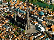 Ulm Minster, Germany, aerial photo