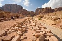 Ruins Of The Nabatean City, Petra Jordan