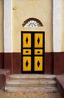 Door in Nubian village on Elephantine Island, Aswan, Egypt