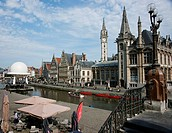The Graslei One Of The Most Scenic Places In Old City Of Ghent, Ghent Oost_Viaanderen Belgium
