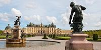 Sculptures in front of drottningholm palace, stockholm sweden