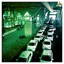 Taxis in T4, Airport in Madrid, Spain