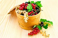 Currants in a birch tueske