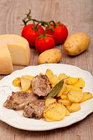 lamb with potatoes