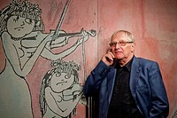 Jiri Suchy Czech novelist, poet, singer, musician and artist poses at the Semafor Theatre in Prague, on Wednesday, Sept 16, 2010 CTK Photo/Rene Fluger...