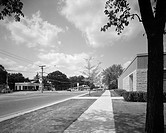 View A: Perspective view negative, A2: Color version of A transparency, B: Side of the building with a sidewalk and Crystal Lake water tower in the ba...