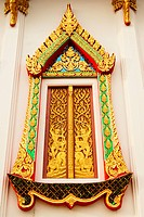 Gold carved ancient Window of temple