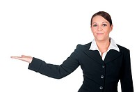 businesswomen gesturing