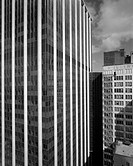 Views include aerial views of building in Loop context and also views of Randolph and Washington streets across from new building. View A: Exterior, m...