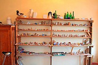 clay of the toy in artist studio