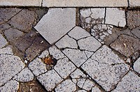 old urban concrete pavement background