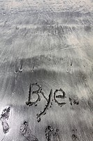 Bye on sand