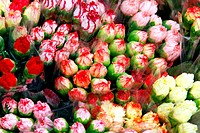 Roses in market for sales