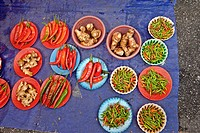 Ginseng and Peppers, Sunday Market, Kuching, Borneo, Malaysia, Asia