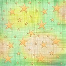 Sea stars on the abstract paper background