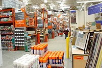 Interior of Home Depot home Improvement Store
