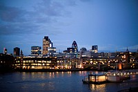 England, London, City of London Business Area Skyline