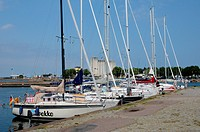 Sweden, the marina of Borgholm in summer