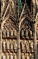 France,the cathedral of Rouen in Normandy