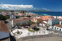 The city of Ribeira Grande on the island of Sao Miguel, Azores islands, Portugal